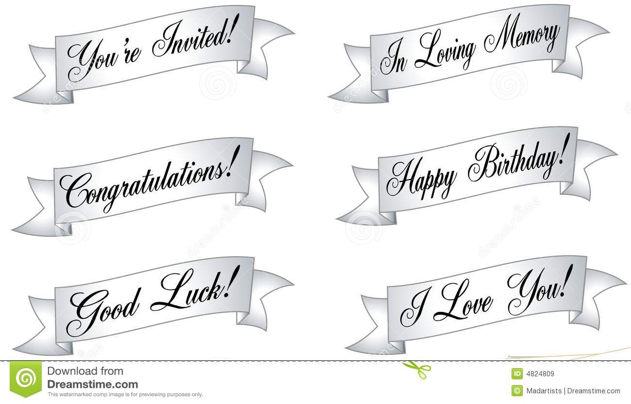 Assorted Banners And Ribbons Royalty Free Stock Images - Image ...