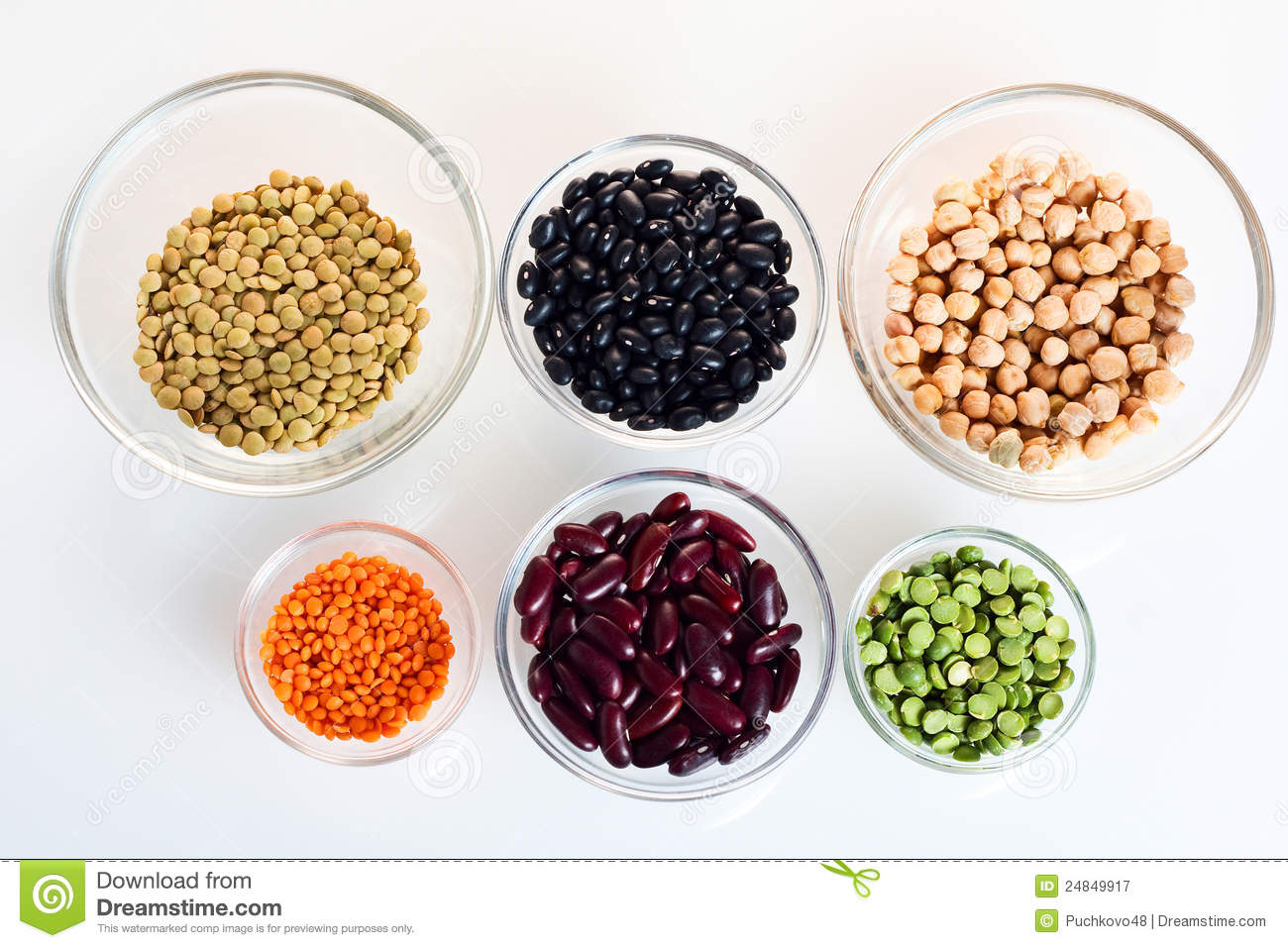Assorted beans and legumes