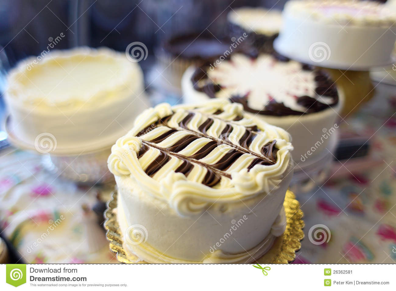 Fine Assorted Cakes Stock Image Image Of Vanilla Delicious 26362581 Funny Birthday Cards Online Barepcheapnameinfo