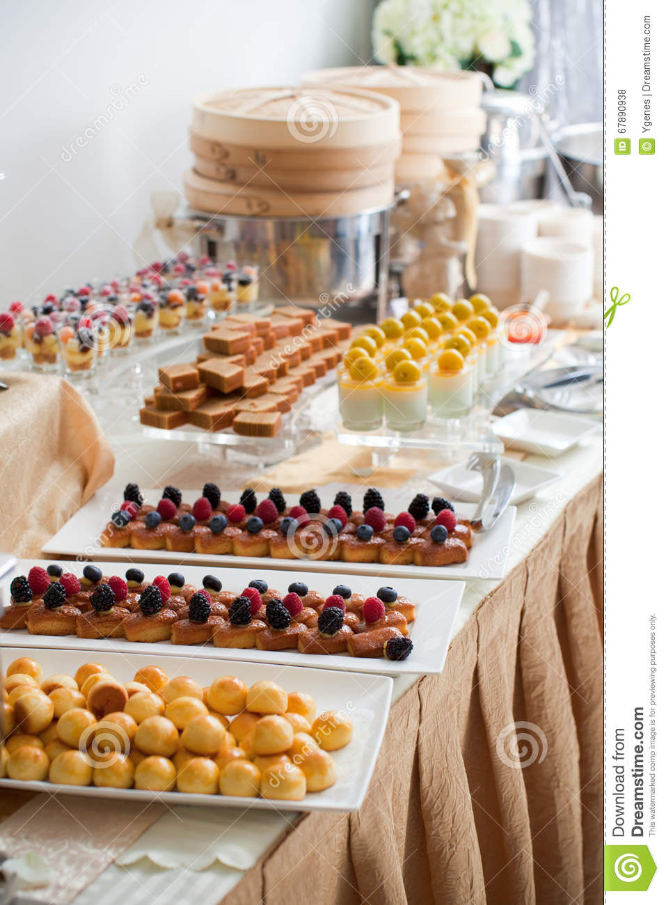 Assorted Canapés on Buffet