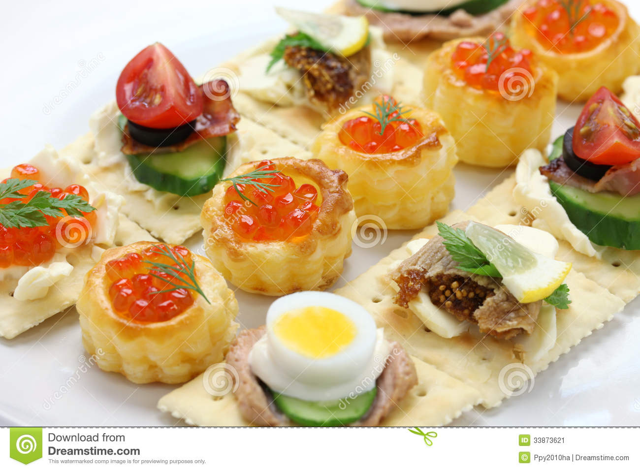 Assorted canape stock image image 33873621 for Canape party menu