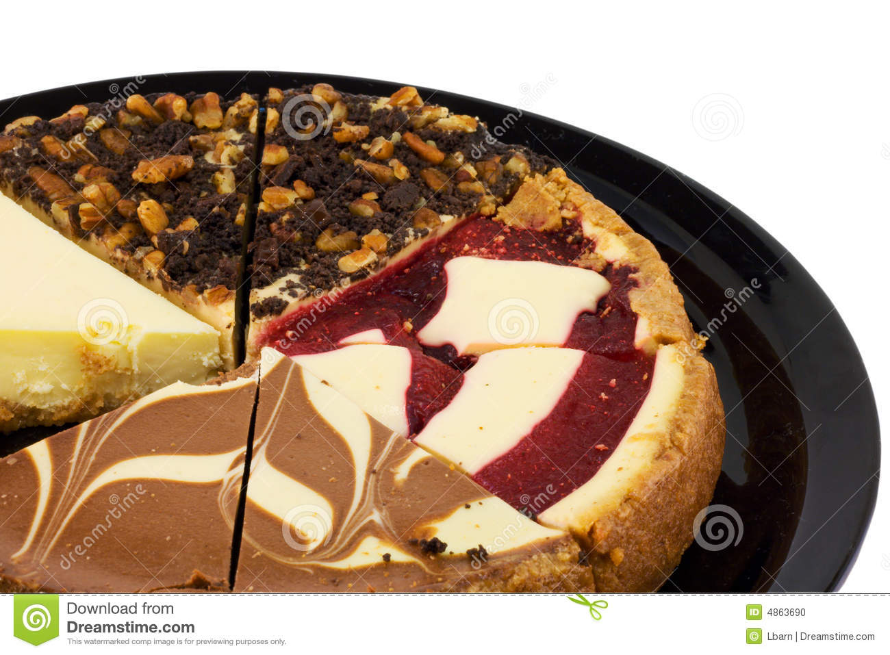 Assorted Cheesecake Slices stock photo Image of four 4863690