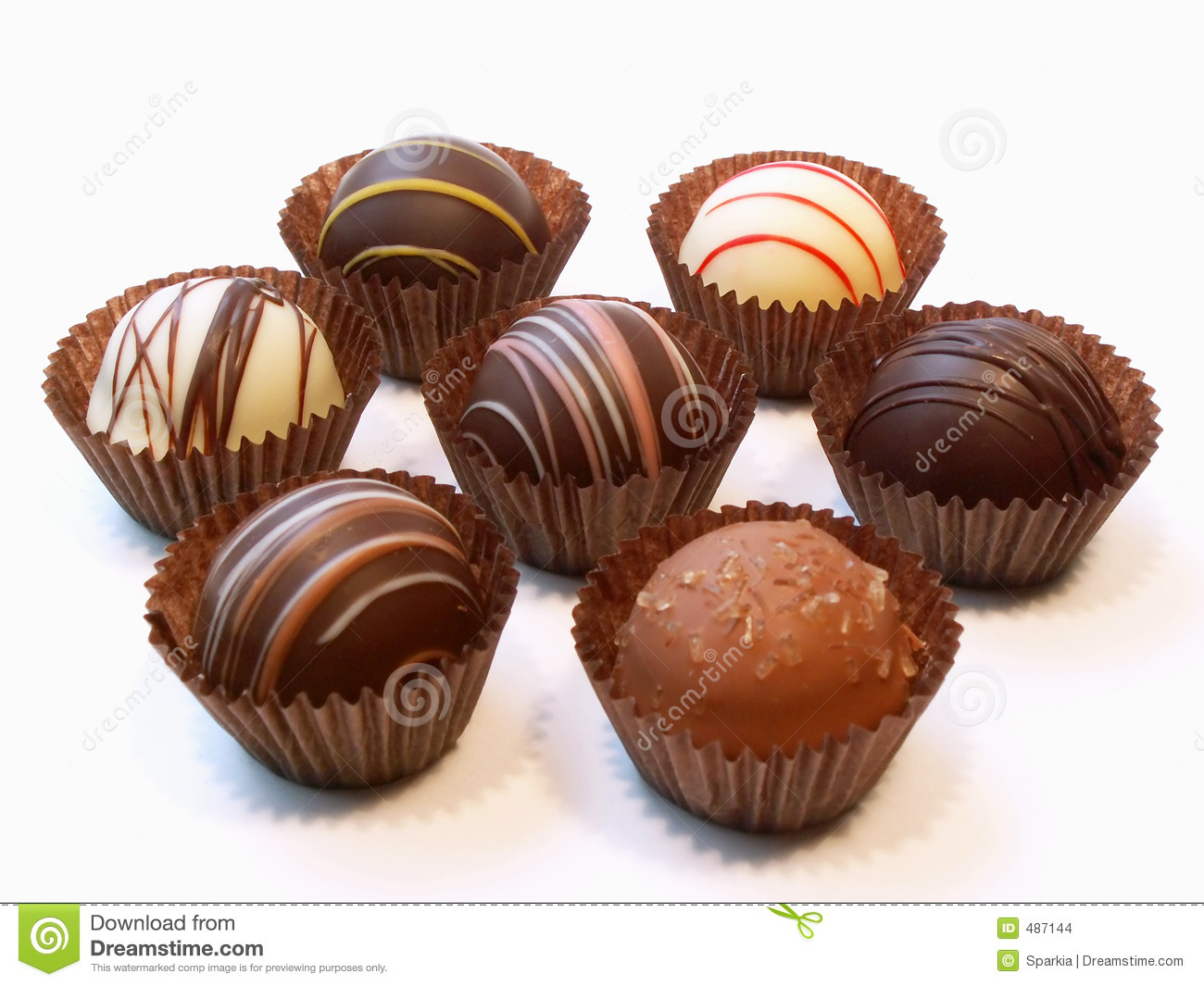 Assorted Chocolate Candies Stock Images - Image: 487144