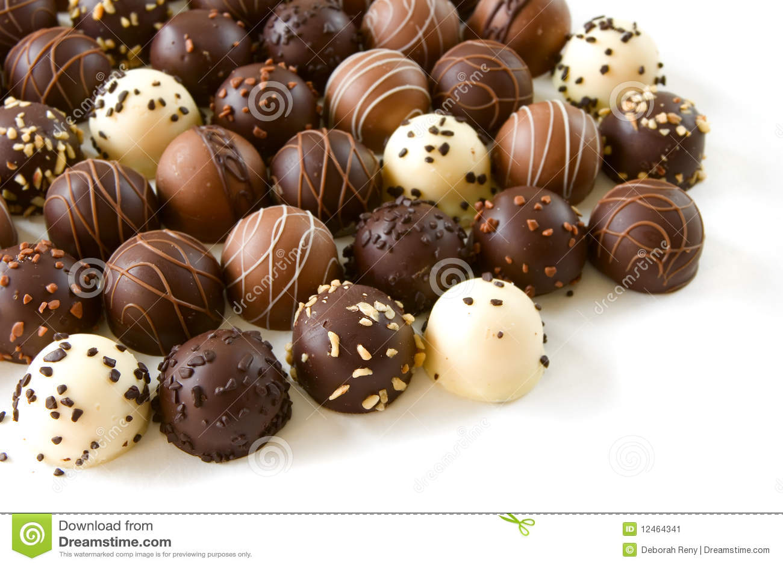 assorted chocolate truffles stock image   image 12464341