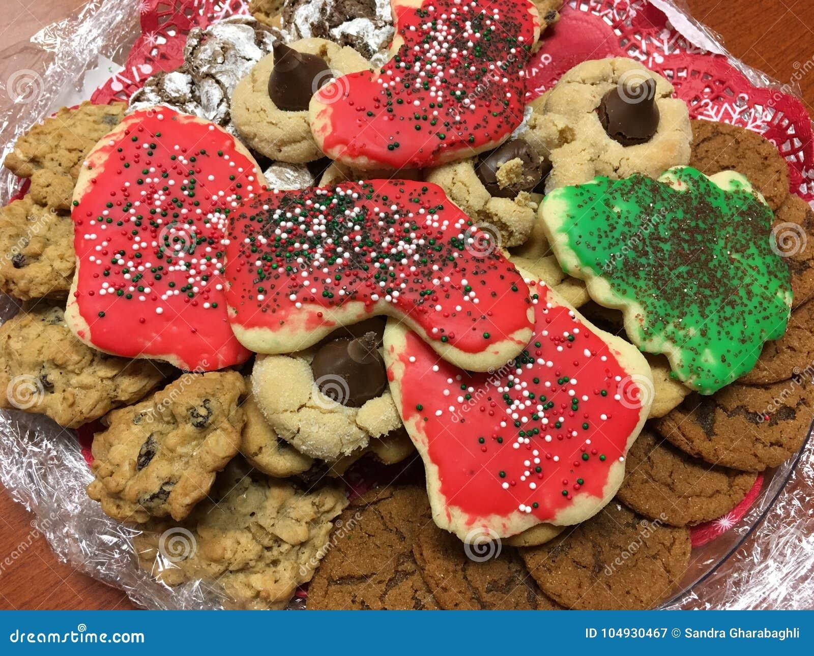 Assorted Christmas Cookies stock image. Image of oatmeal - 104930467