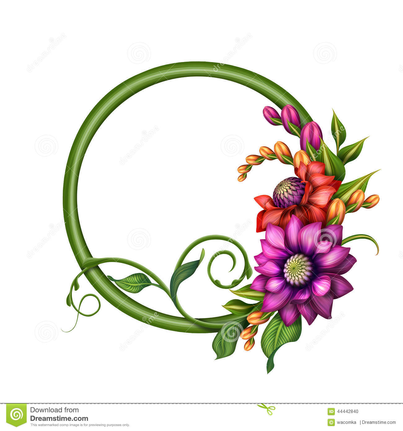 assorted colorful autumn flowers clip art round banner frame rh dreamstime com floral clip art designs floral clip art designs