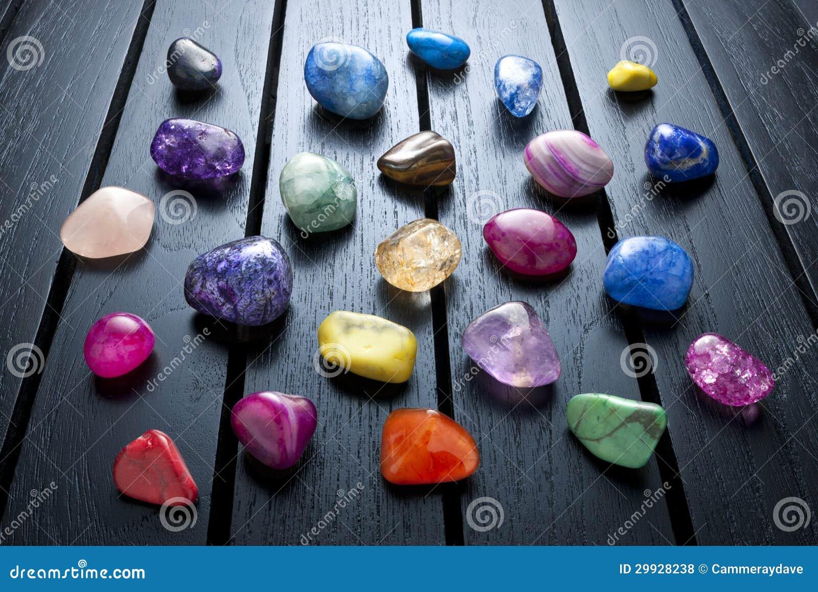 Crystals And Stones : Crystals gemstones healing rocks royalty free stock photos