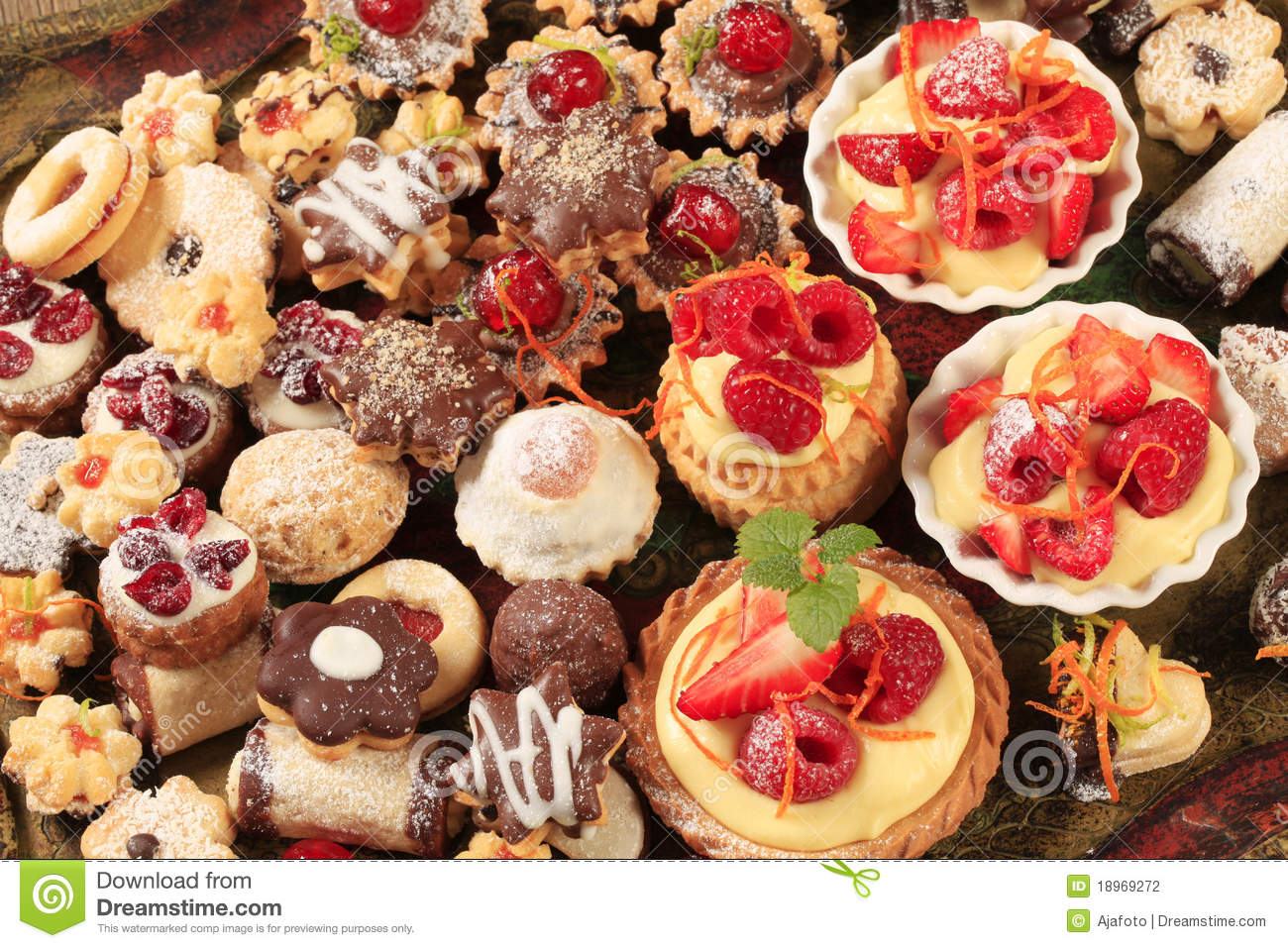 Assorted Cookies And Desserts Stock Photo Image Of