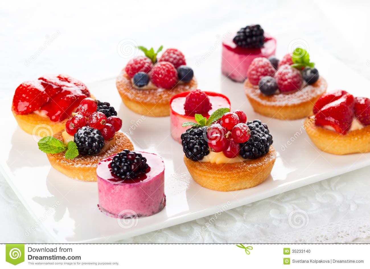 Assorted Cakes In French
