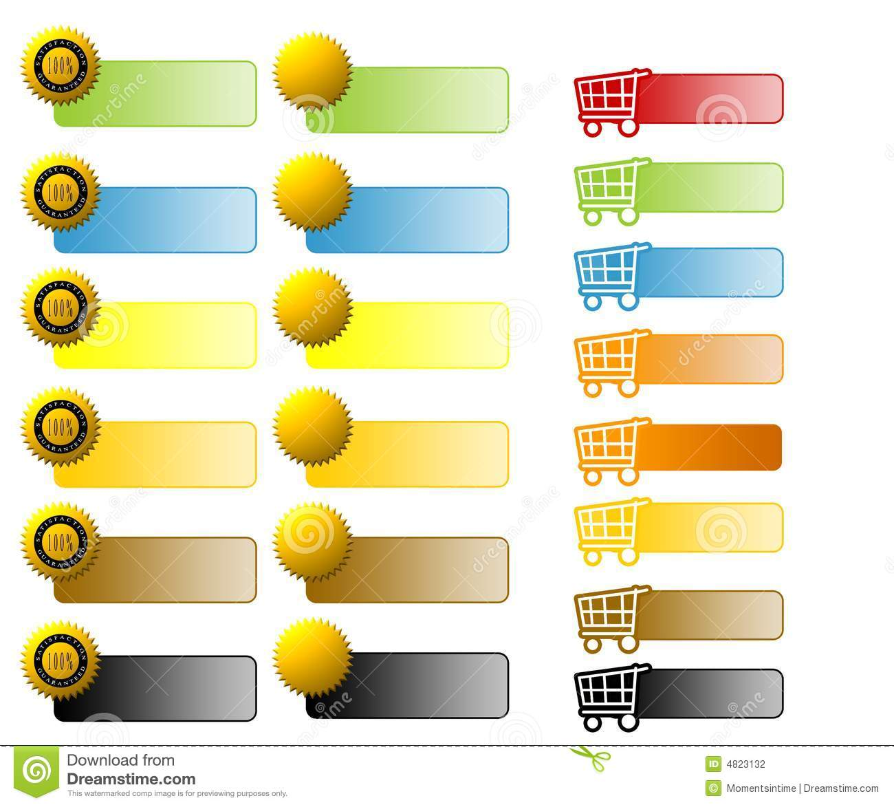 Assorted E-Commerce Web Buttons