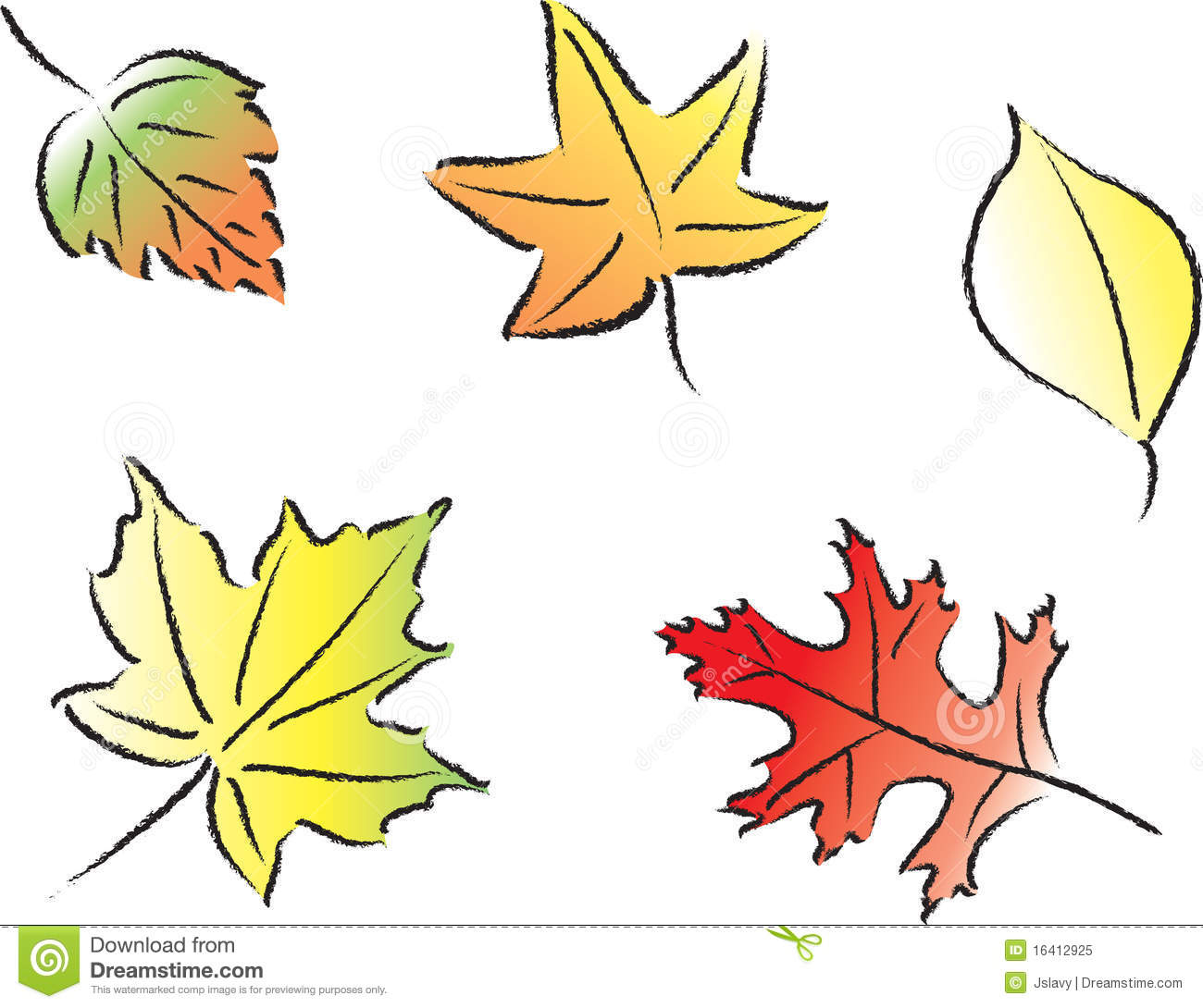 Assorted Fall Leaves Royalty Free Stock Photo