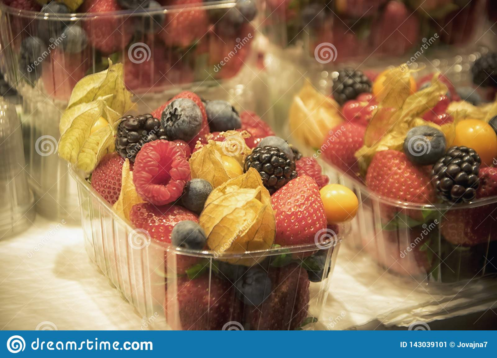 Assorted Fruit in Plastic Boxes