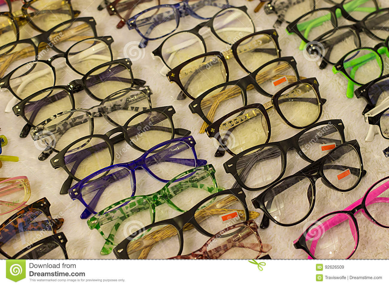 96302f0f47 Assorted glasses at apparel and accessory shop. Cheap apparel and high  quality fashion at discounts and promotions.