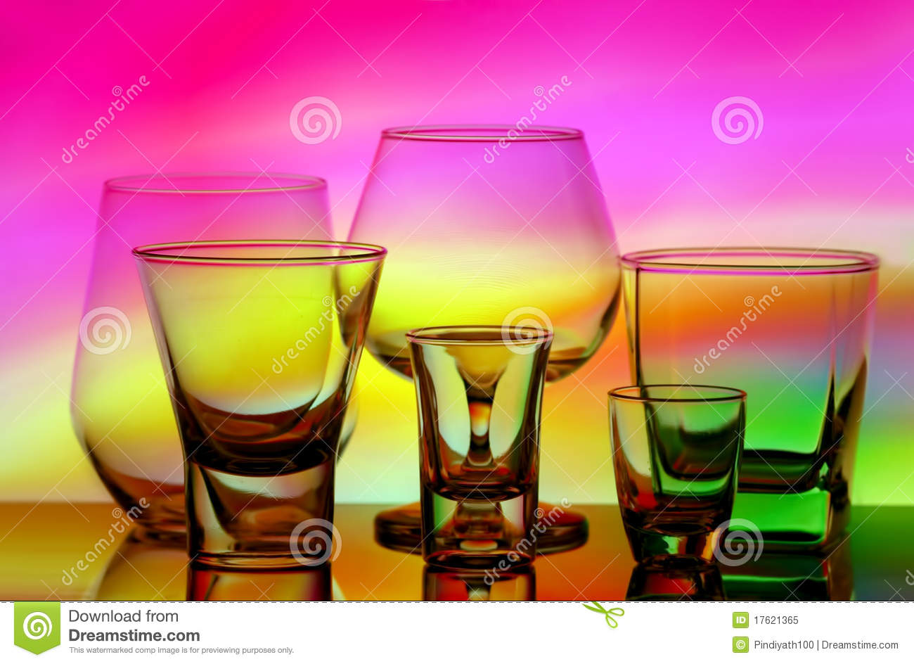 Assorted Glassware Royalty Free Stock Photo Image 17621365