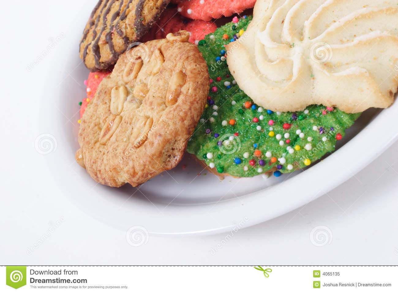 Assorted Holiday Cookies on Plate
