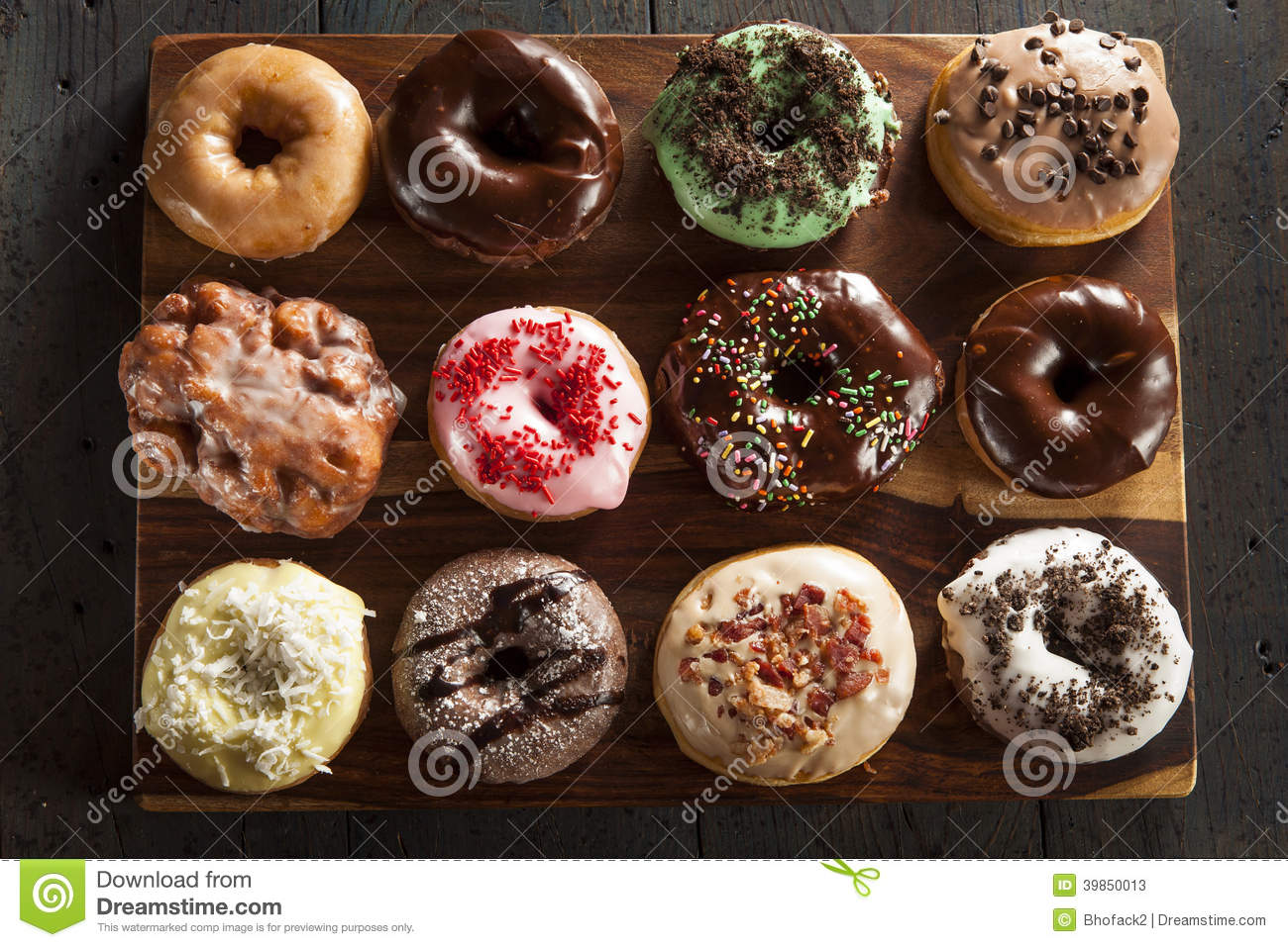Assorted Homemade Gourmet Donuts Stock Photo Image 39850013