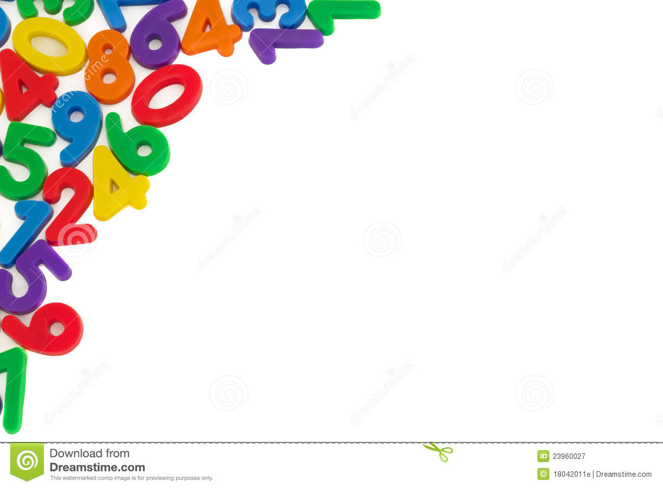Assorted Numbers On White Background Royalty Free Stock