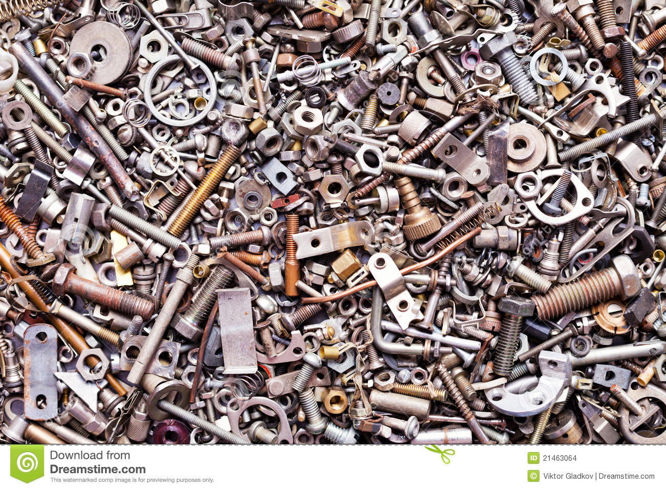 Copper Nuts And Bolts >> Assorted Nuts And Bolts Stock Images - Image: 21463064