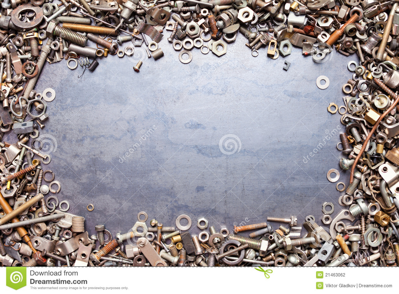 Copper Nuts And Bolts >> Assorted Nuts And Bolts Frame Stock Photo - Image of assorted, bolt: 21463062