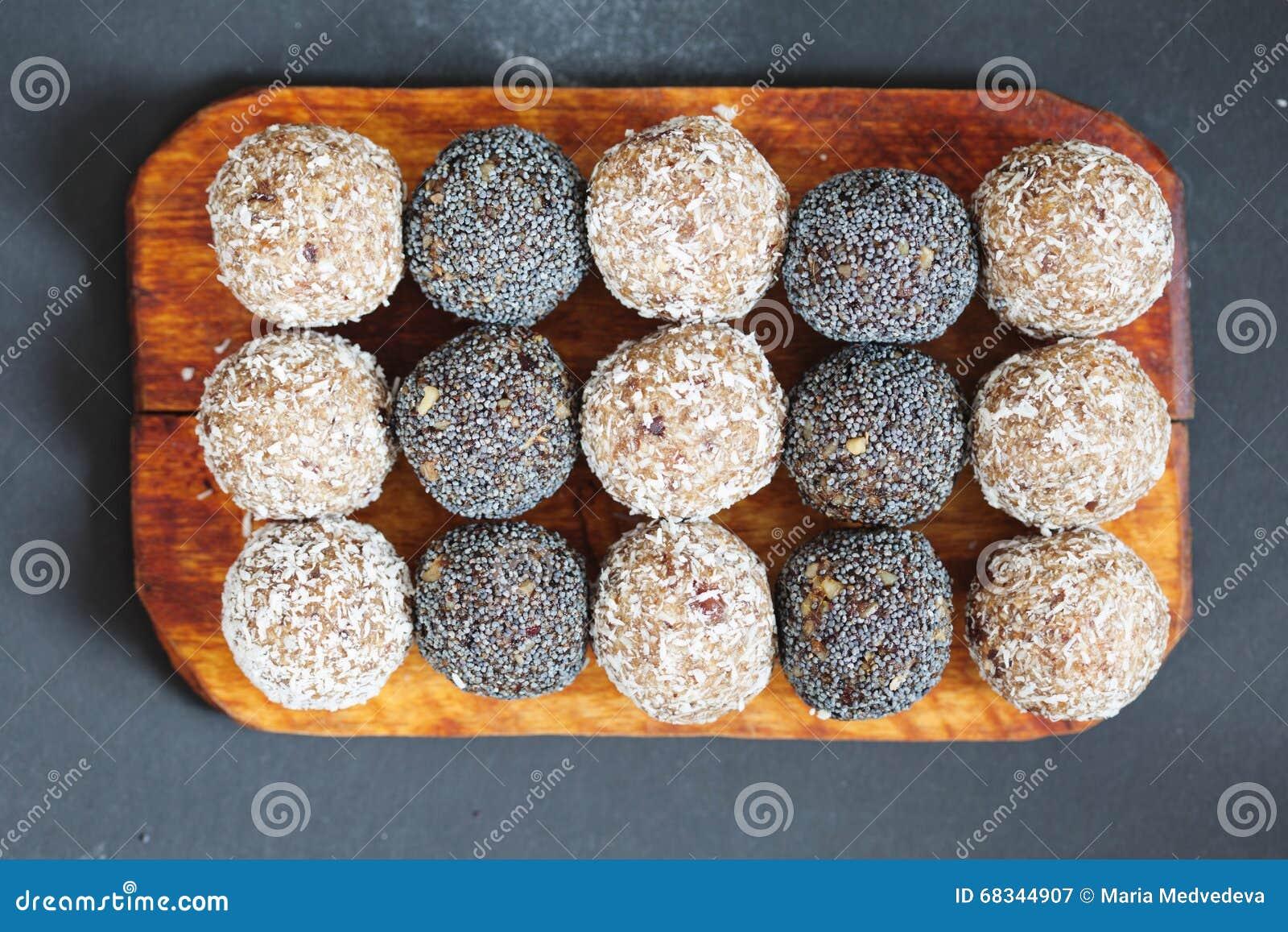Assorted raw vegan sweets