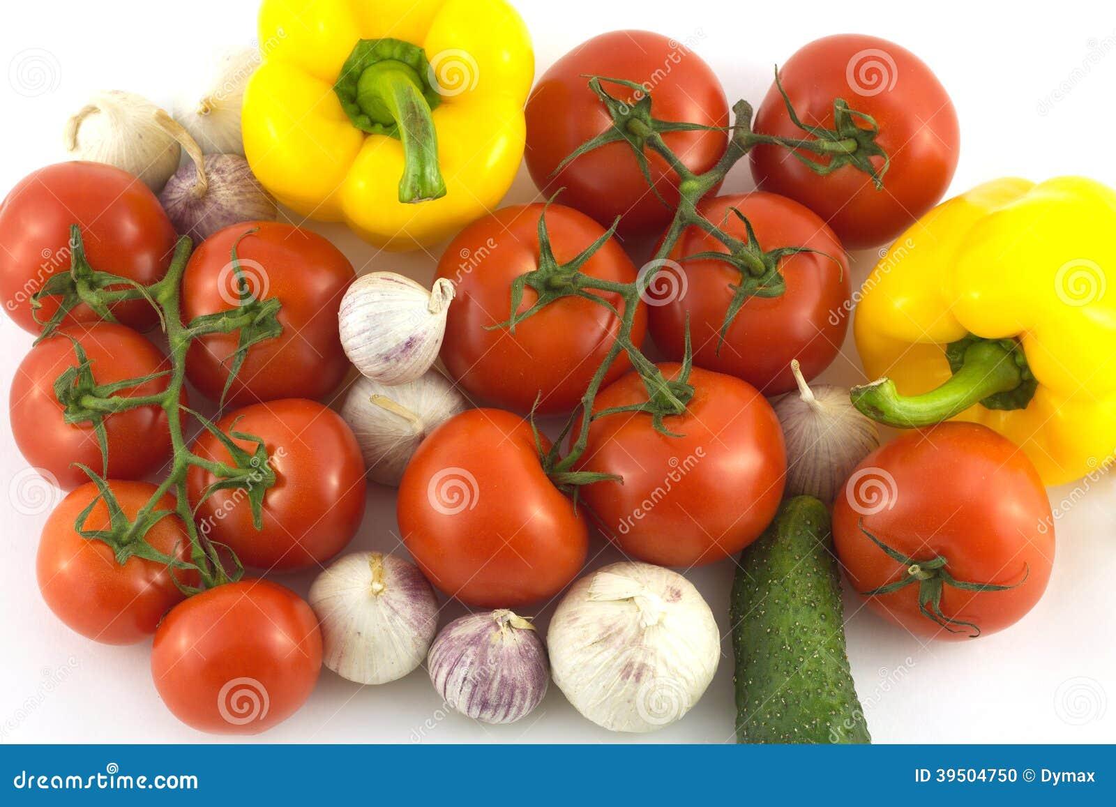 Assorted ripe vegetables closeup