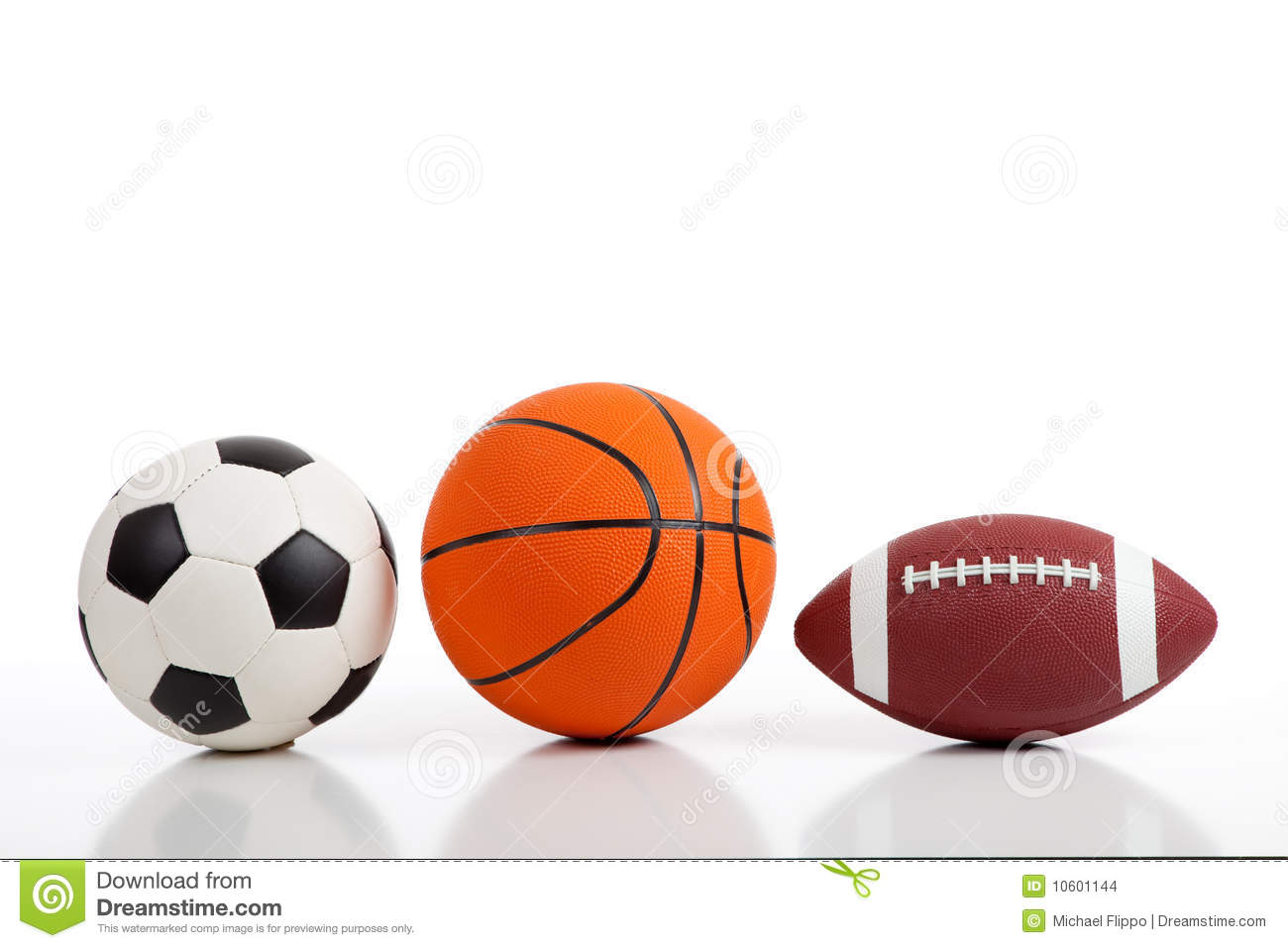 Download Assorted Sports Balls On White Stock Photo - Image of isolated, sports: 10601144