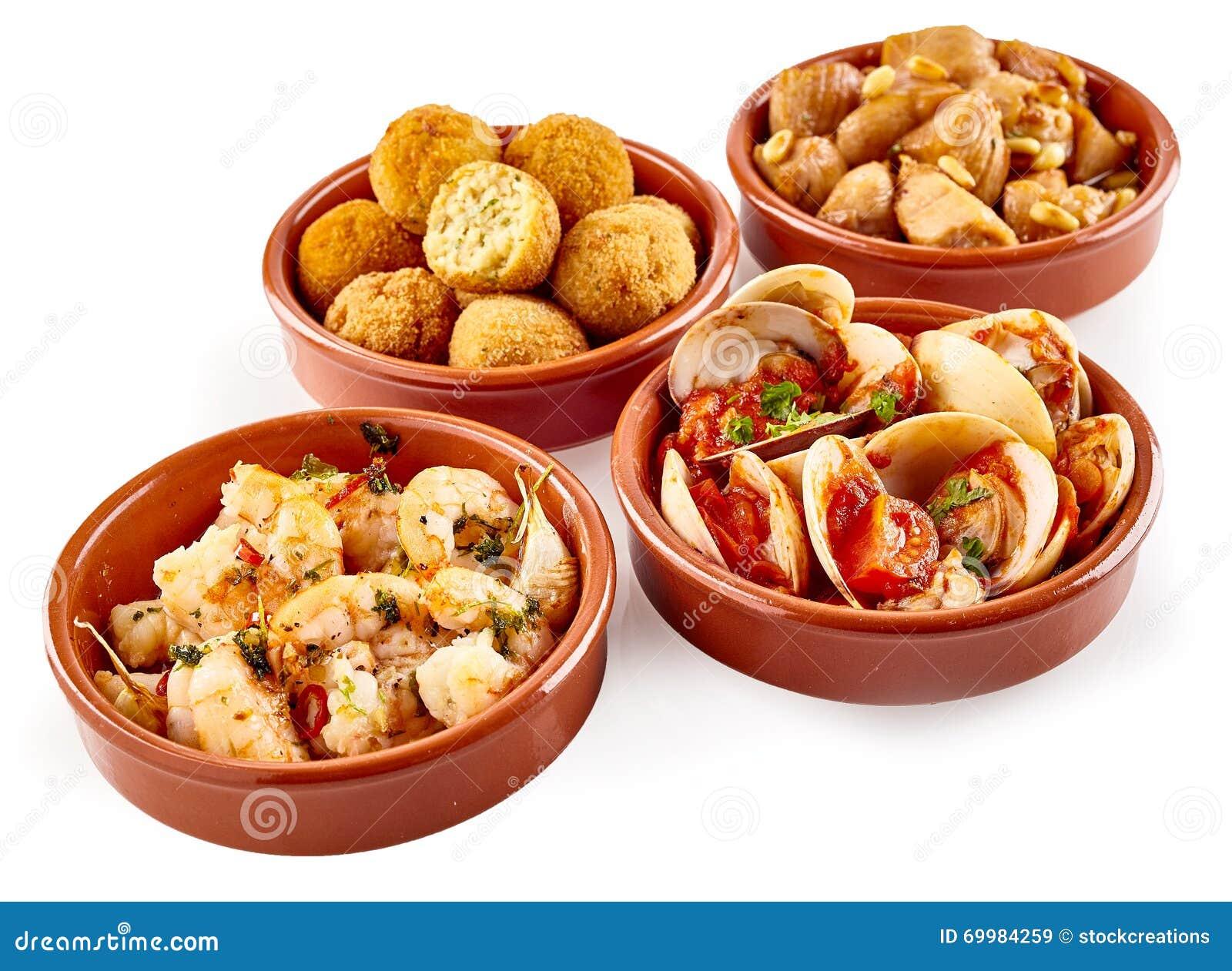 Assorted Traditional Spanish Tapas Snacks Stock Photo - Image ...