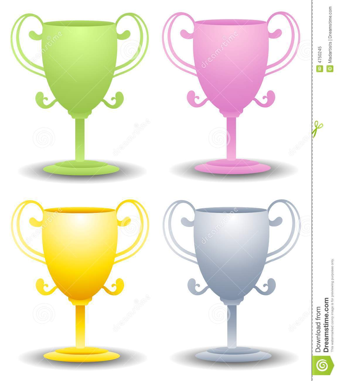 Assorted Trophy Clip Art Royalty Free Stock Photo - Image: 4750245