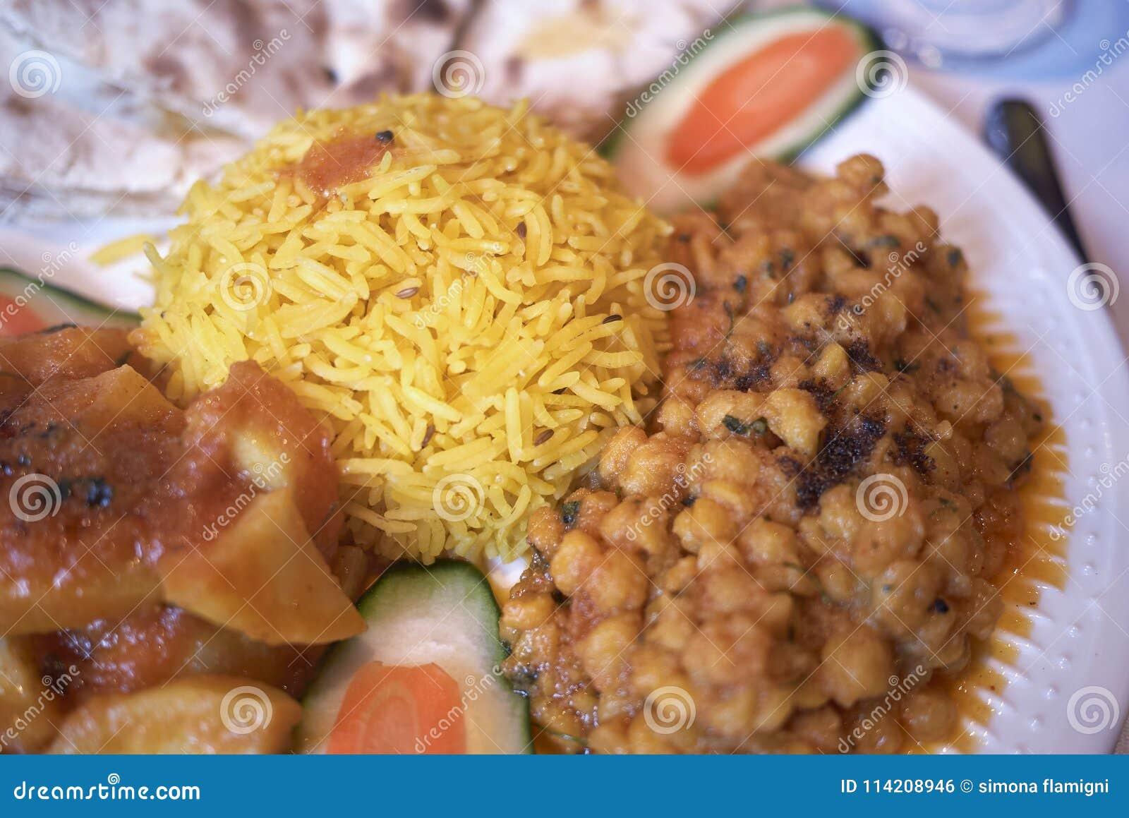 Assorted vegetarian indian meal
