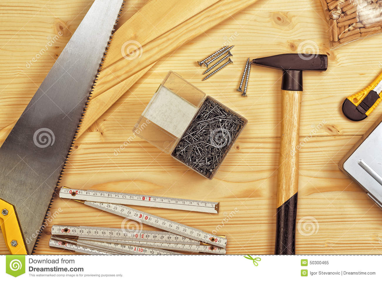 Assorted Woodwork And Carpentry Or Construction Tools ...