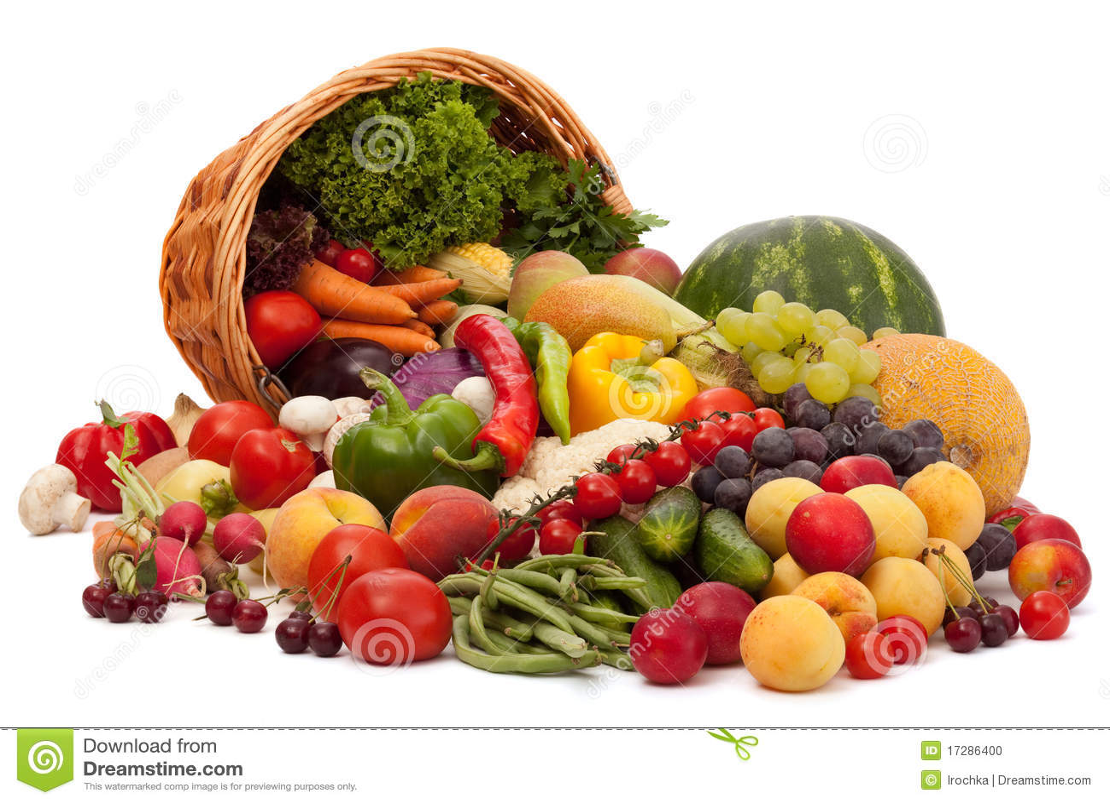 Assortiment de fruits et l gumes photo stock image 17286400 - Fruits et legumes de a a z ...