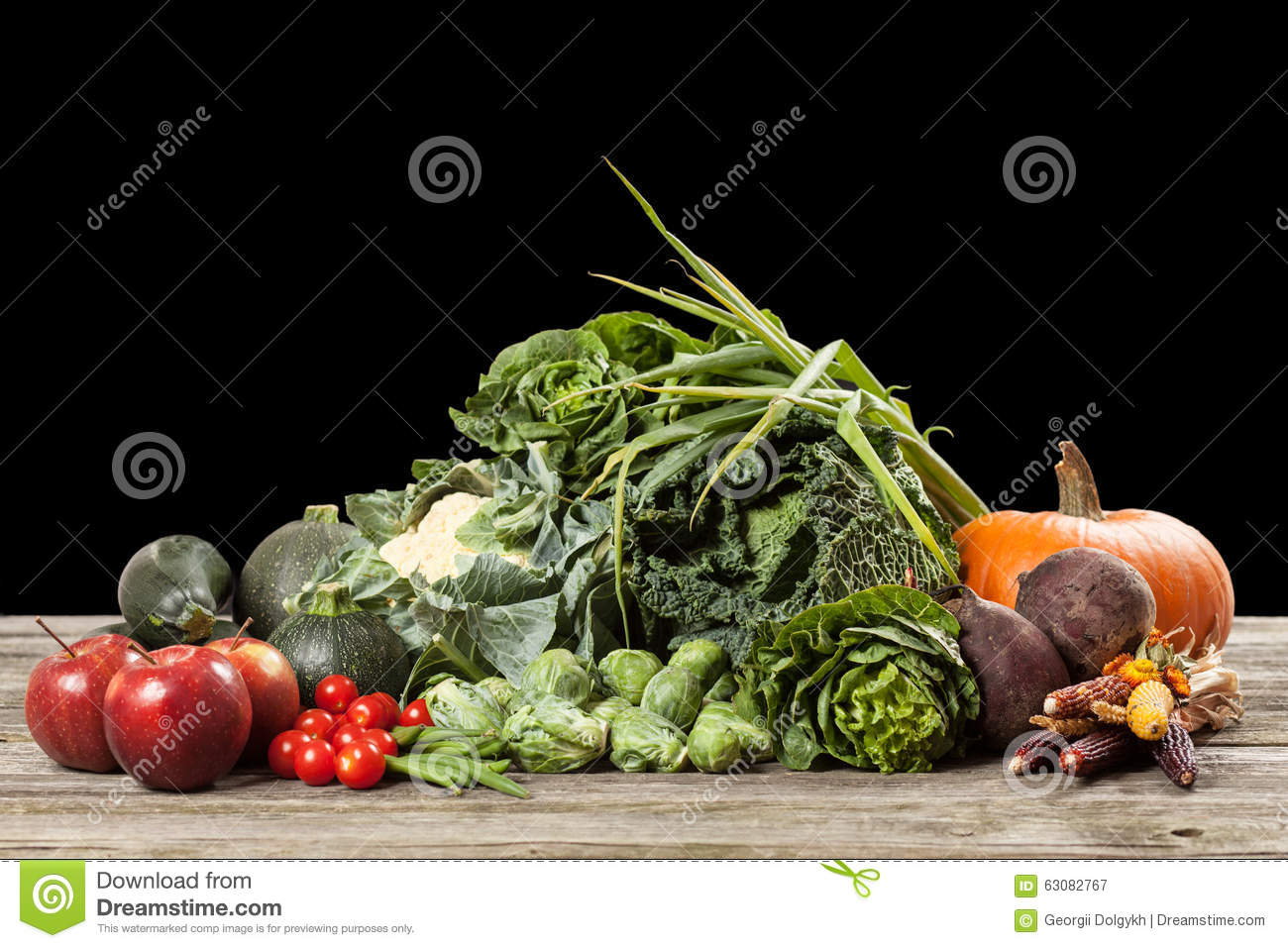 Download Assortiment Des Légumes Verts Image stock - Image du kale, oignon: 63082767