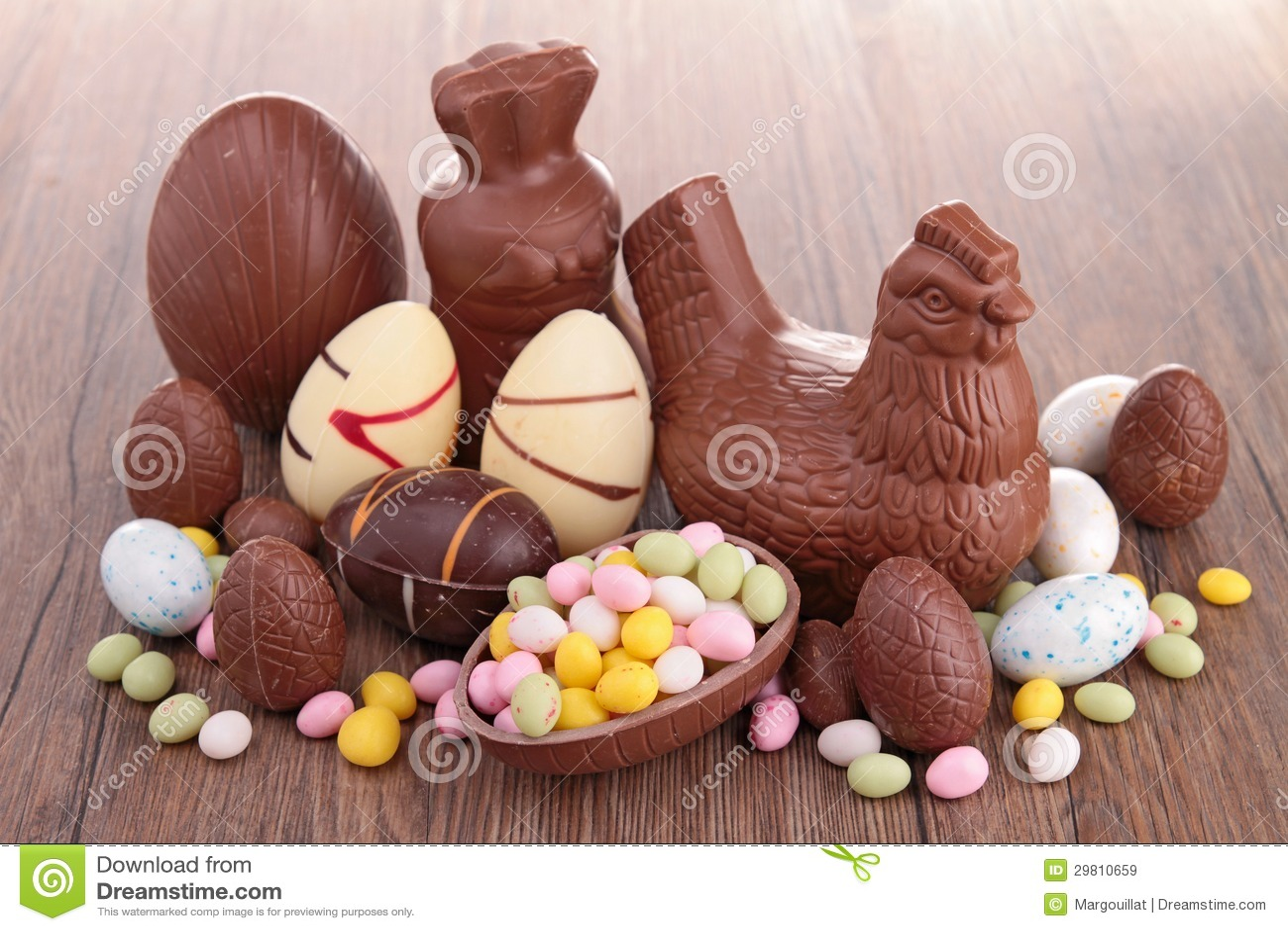 chocolats de p ques images libres de droits image 29810659. Black Bedroom Furniture Sets. Home Design Ideas