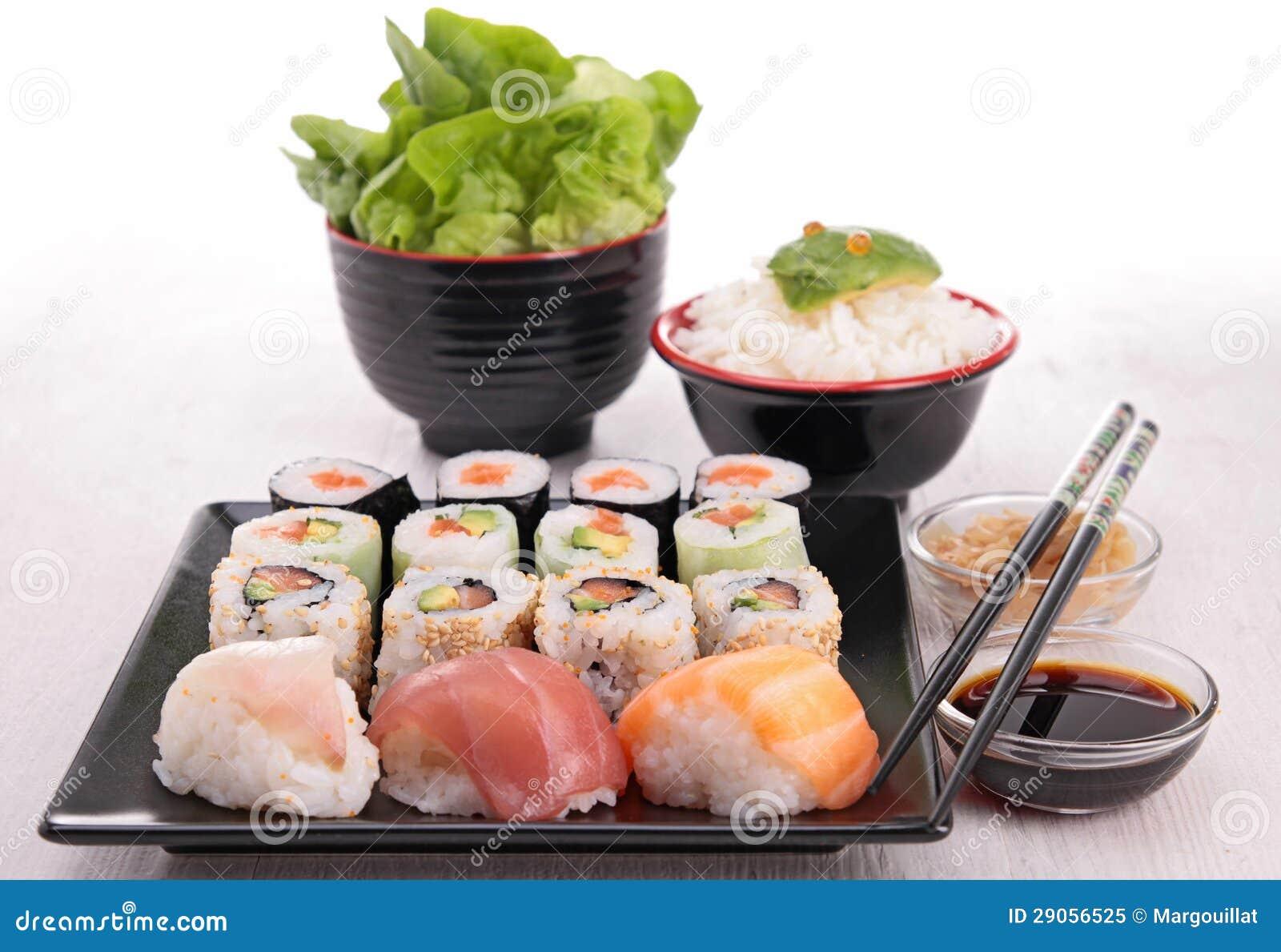Assortiment van sushi