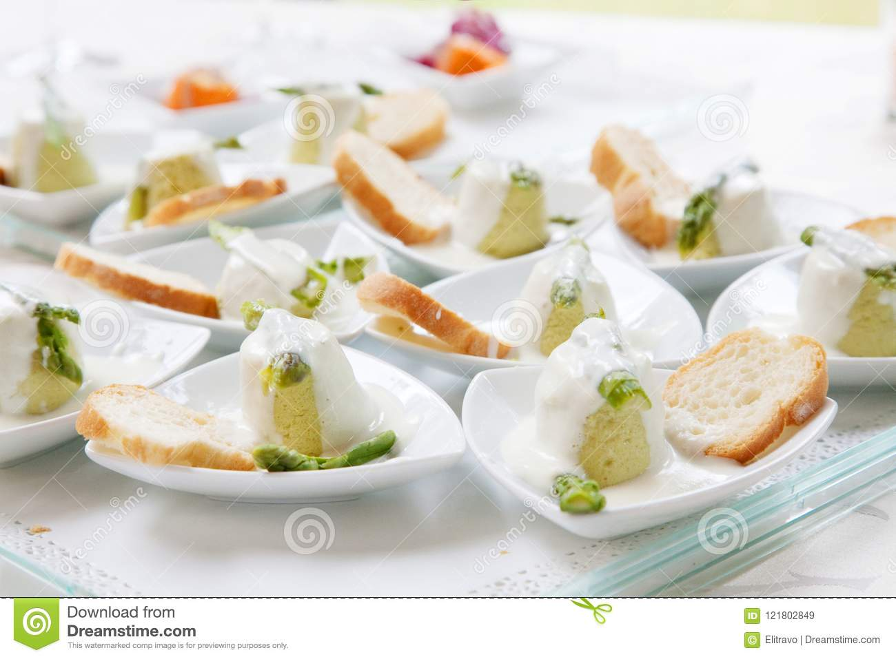 Assortment Appetizers And Finger Food Stock Image Image Of Banquet