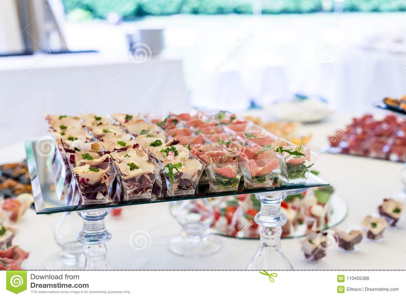 Assortment Appetizers And Finger Food Stock Photo Image Of