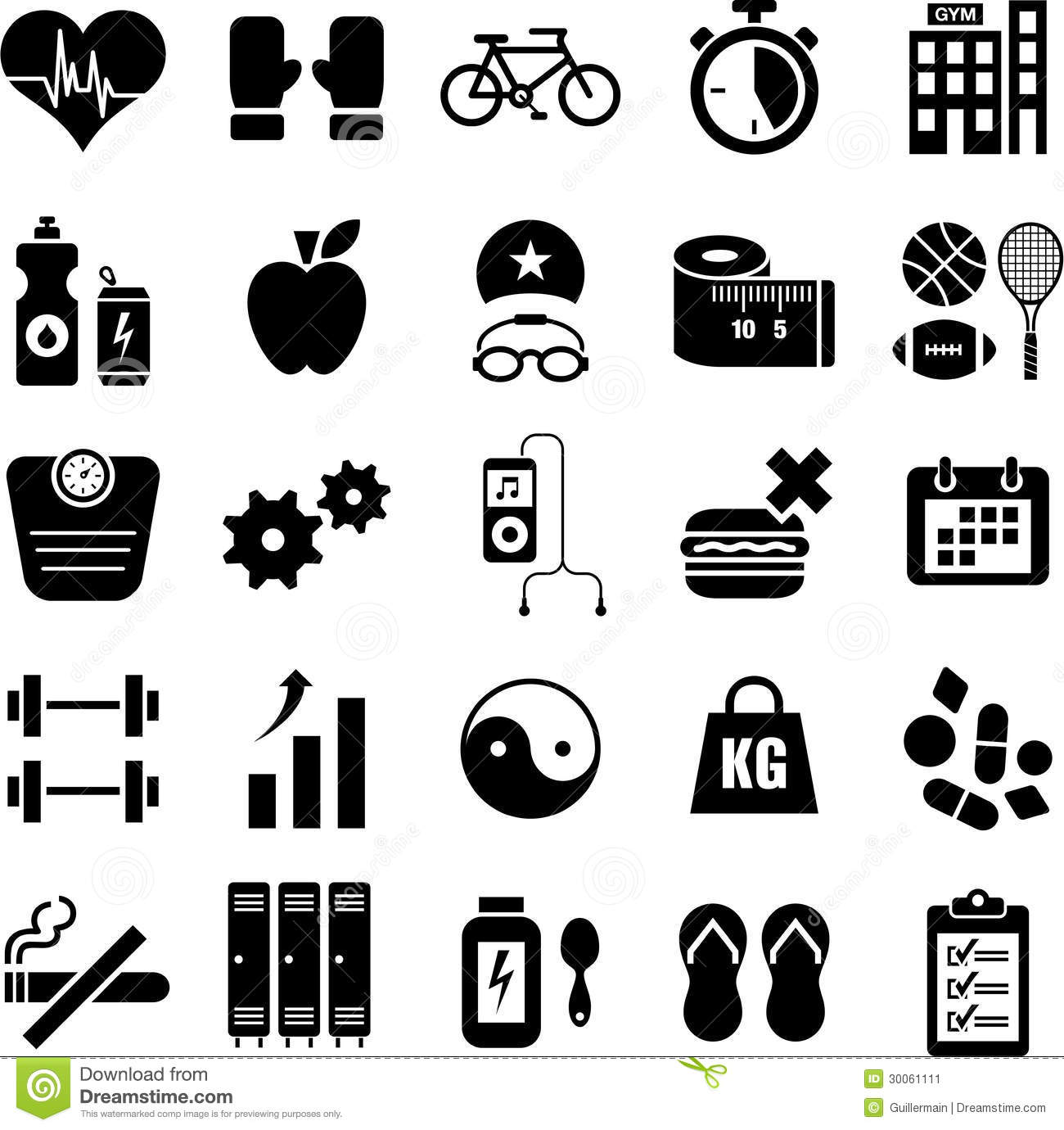 Health and fitness icons stock vector illustration of cigar health and fitness icons biocorpaavc Gallery