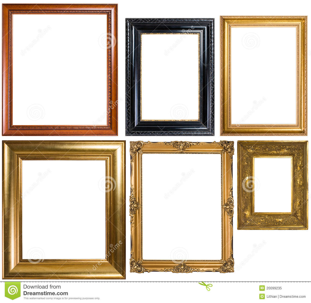 An Assortment Of Classic Picture Frames Stock Image - Image of ...