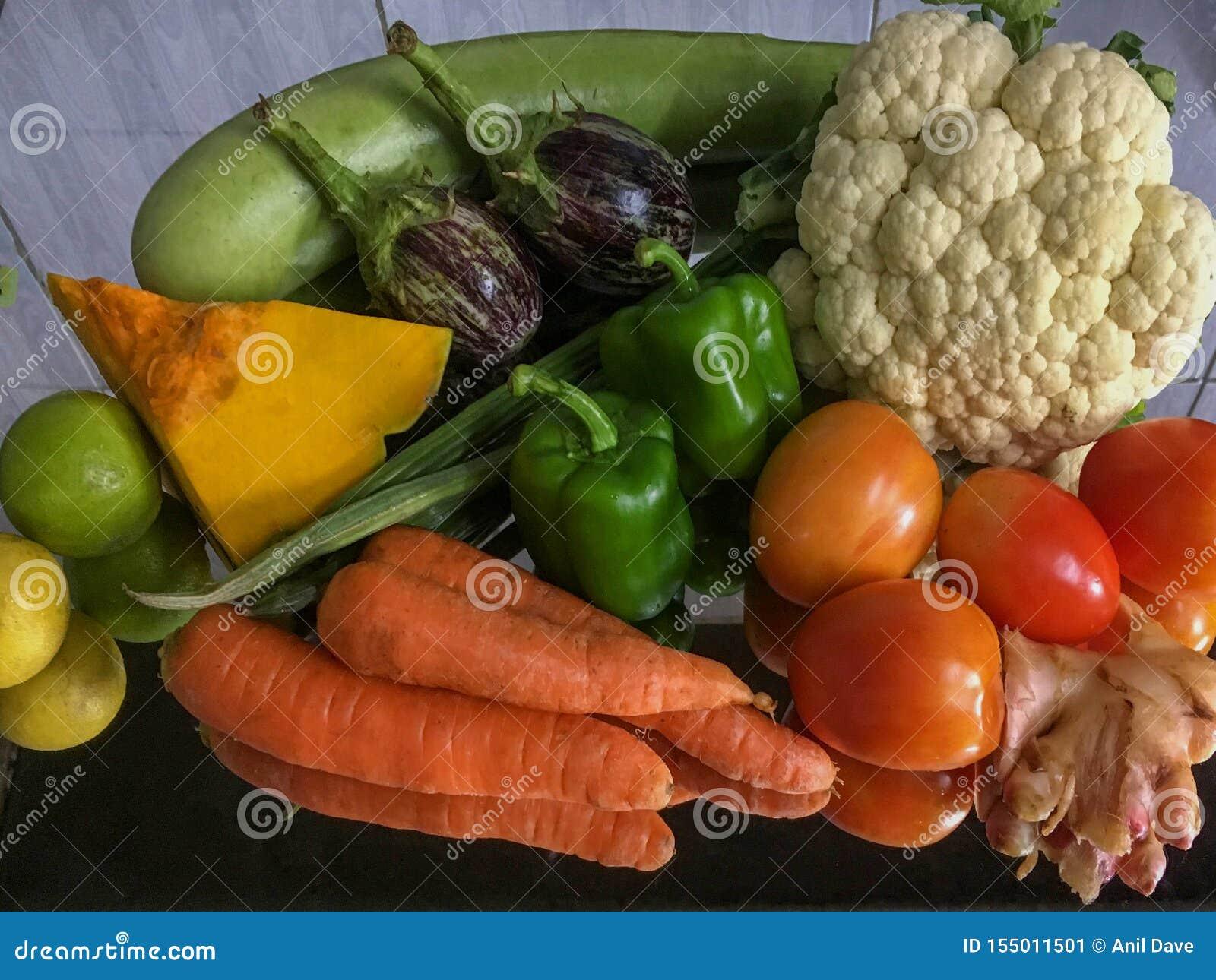 Assortment of fresh fruits and vegetables Lock Gram kalyan maharashtra