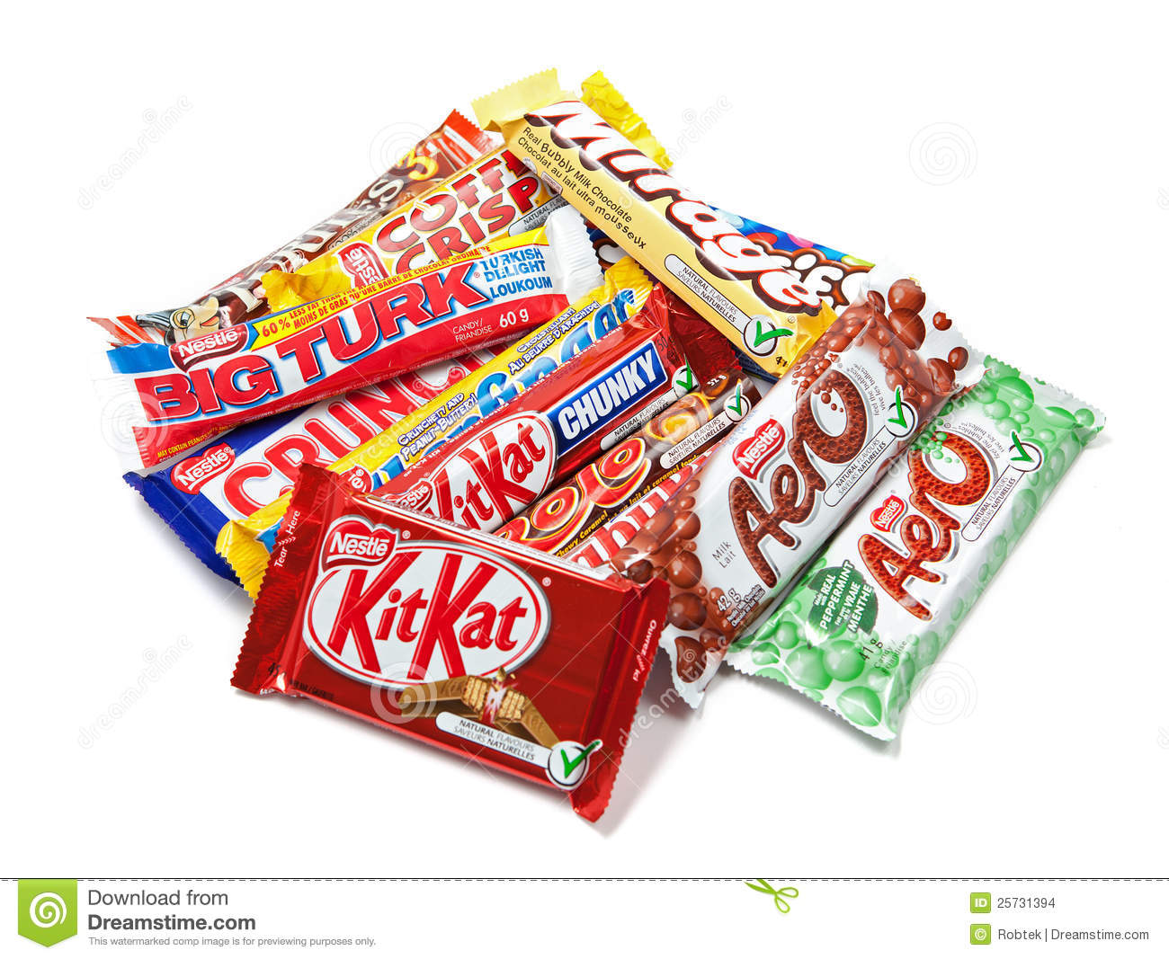 Assortment Of Nestle Chocolate Products Editorial Stock Image ...