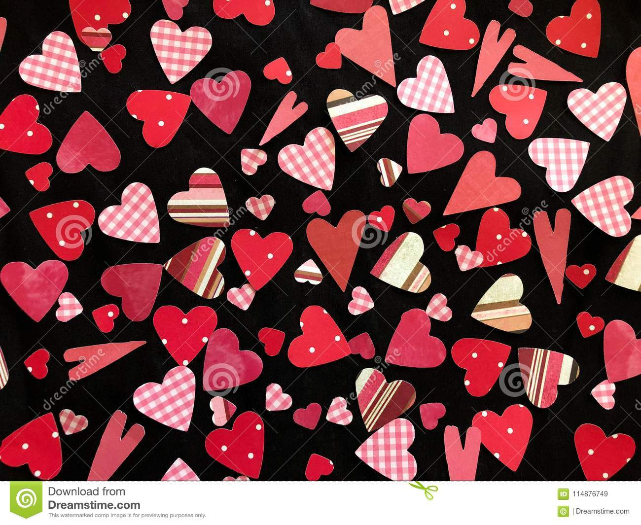 Watch - Black and pink hearts background photo video