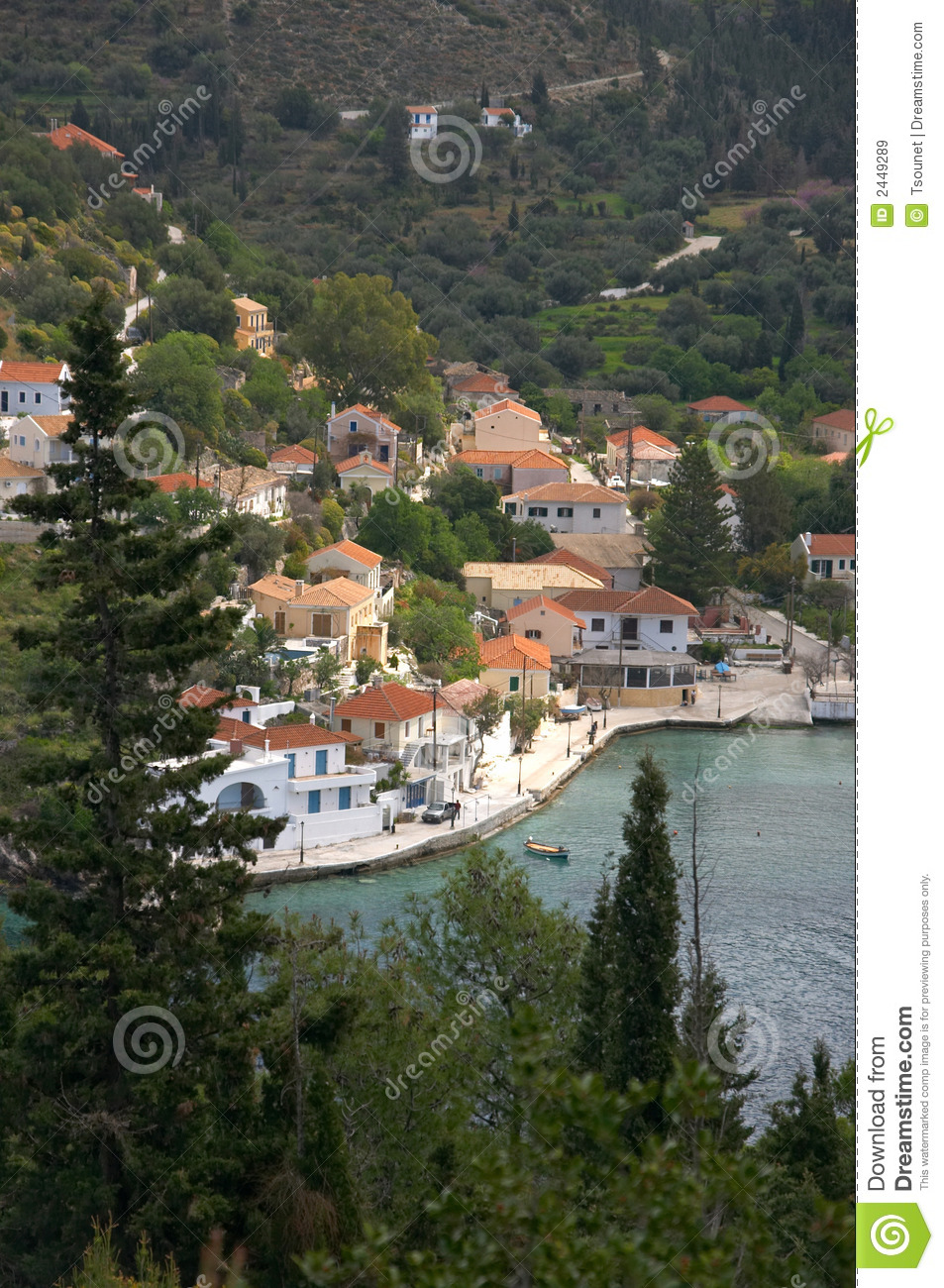 Assos village in Cephalonia