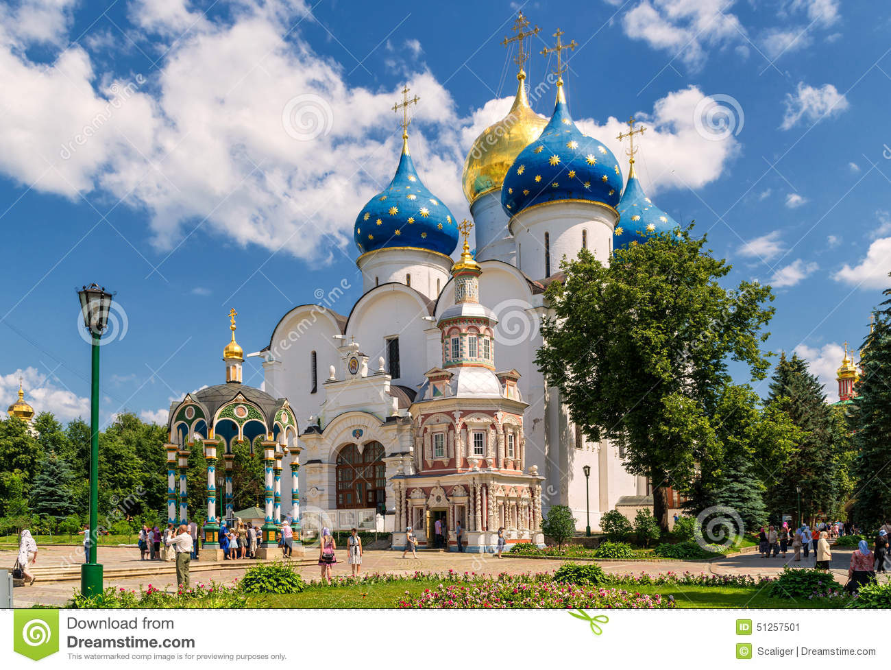 Assumption Cathedral in Sergiyev Posad near Moscow