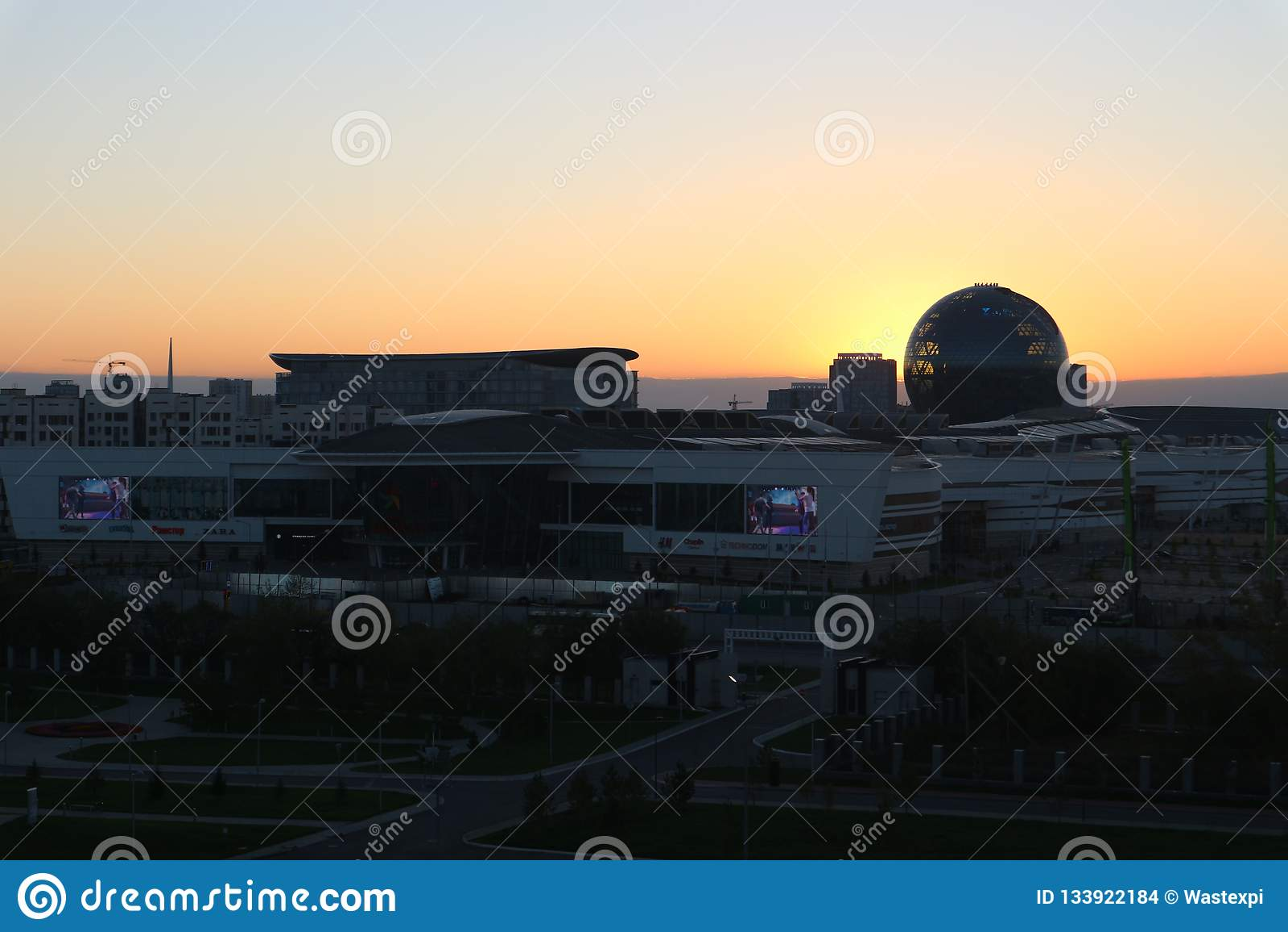 Astaná, Kazajistán, el 13 de septiembre de 2018, vista del edificio de 'Astaná EXPO-2017 '