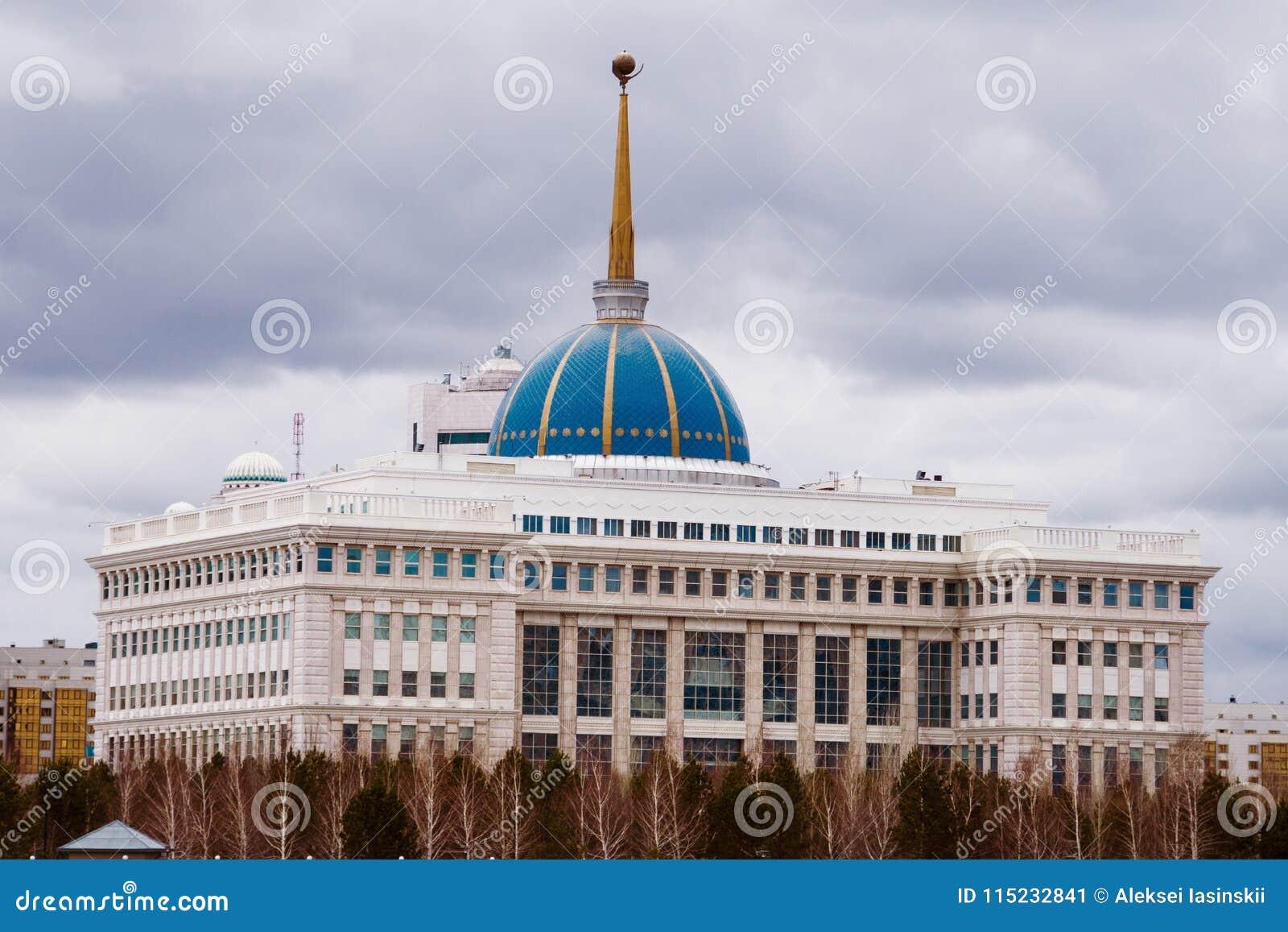 ASTANA, IL KAZAKISTAN - 26 APRILE 2018: Accordo - residenza del presidente della Repubblica del Kazakistan