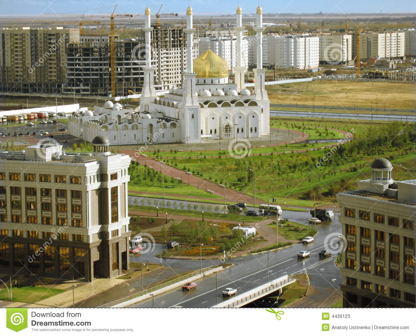 Astana-Stadt. Moschee. Panorama