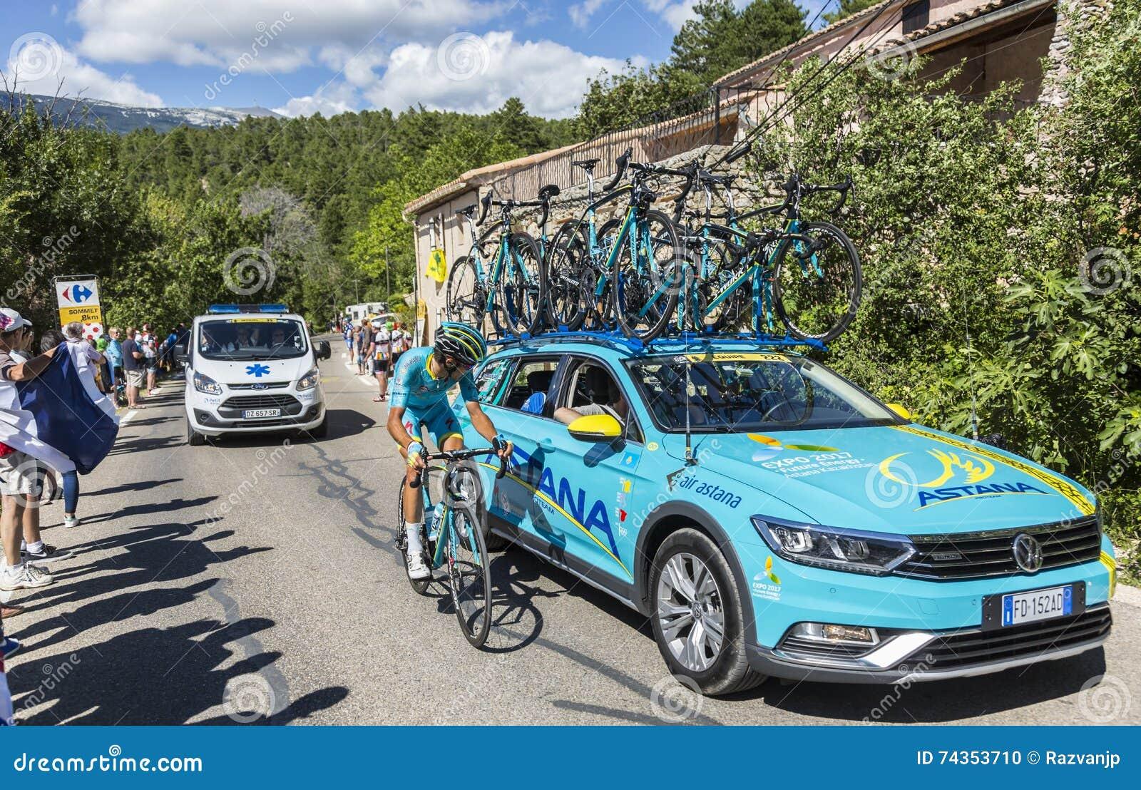 Astana Teamwork on Mont Ventoux - Tour de France 2016