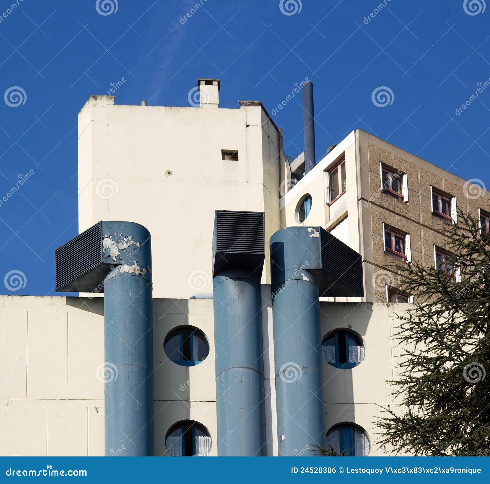 Aste cilindriche di ventilazione enormi