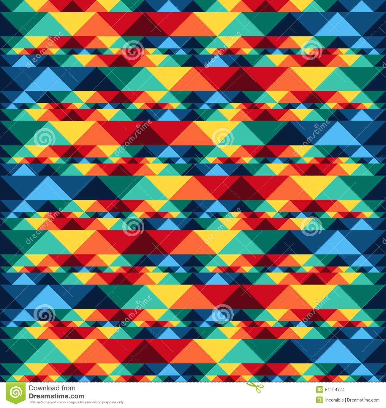Asteca sem emenda abstrato tribal do teste padrão geométrico
