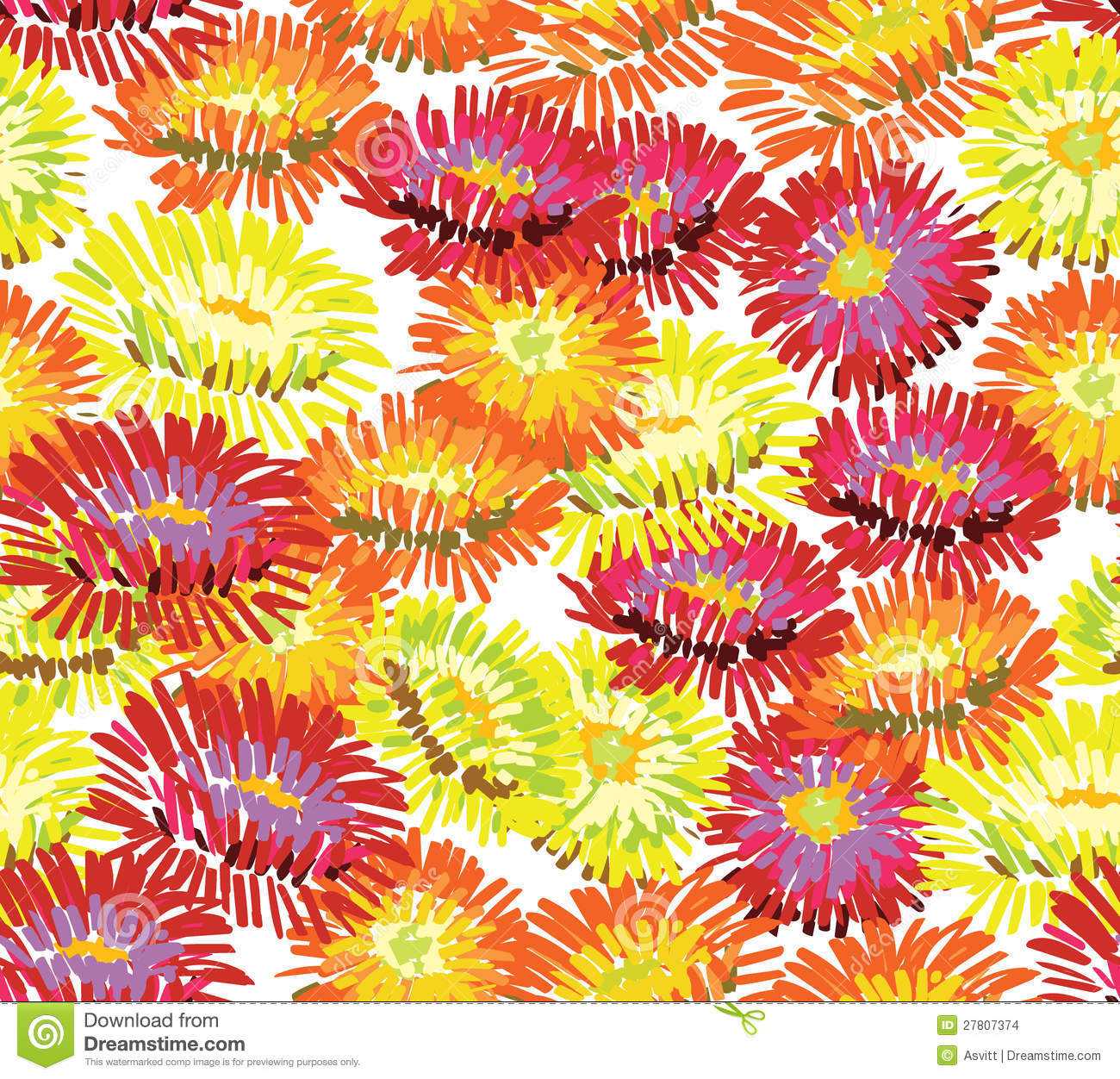Aster Flowers Wallpaper Stock Images